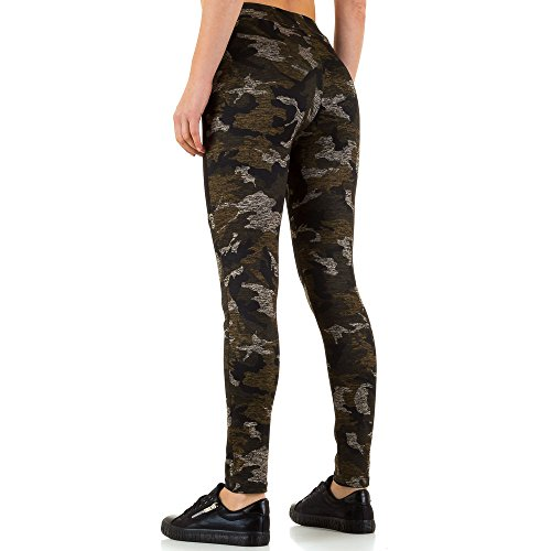 High Waist Camouflage Leggings Für Damen , Braun In Gr. L/Xl bei Ital-Design