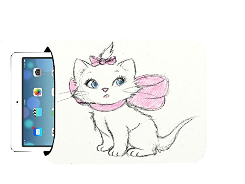Aristocat Drawn Cute Disney Sketch Printed Design 10x8 inch Neoprene Tablet Sleeve Bag by Smarter Designs for iPad, Kindle, Tab, Note, Air, Mini, Fire by Smarter Designs