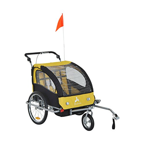 Aosom Double Baby Bike Trailer Stroller - 1