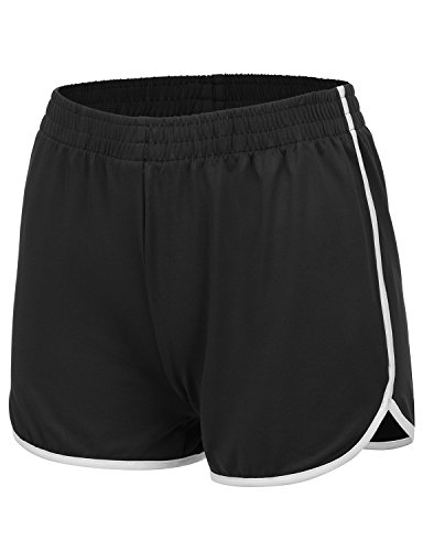 REGNA X NO BOTHER womens athletic summer cool dri fit active gym bermuda shorts, Small, 17402_black ()