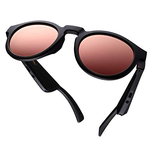 Bose Frames Lens Collection, Mirrored Rose Gold Rondo Style (Polarized), interchangeable replacement lenses, Medium