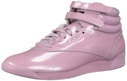 Reebok Women's Freestyle Hi Walking Shoe, Patent-Infused Lilac, 10 M US (Patent Leather Sneakers)