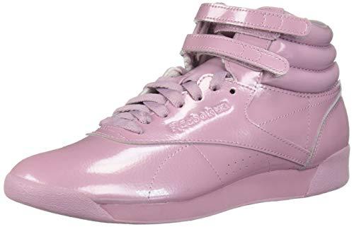 - Reebok Women's Freestyle Hi Walking Shoe, Patent-Infused Lilac, 6 M US