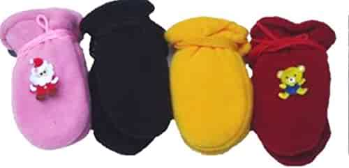 Baby Set of Four Pairs of Magic Stress Mittens for Infants Ages 0-6 Months