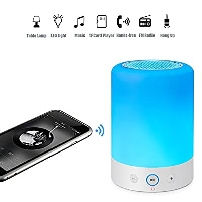 CKY Mini Portable Bluetooth Speakers Wireless Stereo Subwoofer Smart Touch Night Lamp Speaker Color Changing