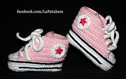 a6a46247b2ba Baby Shoes Converse All Star Pink 100% Cotton  Amazon.co.uk  Handmade