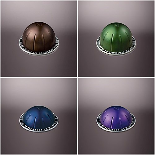 Nespresso Vertuoline Coffee and Espresso Capsules - The Dark Assortment: 1 Sleeve of Intenso, 1 Sleeve of Stormio, 1 Sleeve of Diavolitto and 1 Sleeve of Altissio for a Total of 40 Capsules Pods