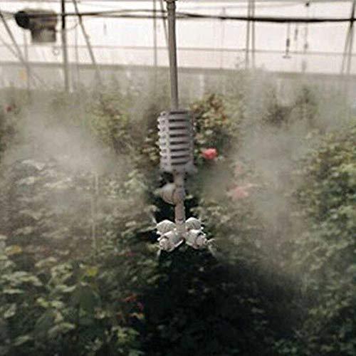 Volwco Lawn Sprinkler System-Hanging 4 Way Garden Sprinkler Upside-Down Rotating Adjustable Misting Nozzle Sprinkler,DIY Drip Irrigation Kit for Patio//Lawn//Greenhouse