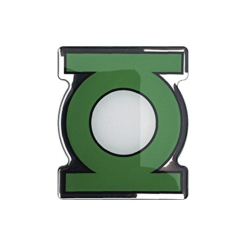 Fan Emblems Green Lantern Logo Car Decal Domed/Black/Green/White/Chrome Finish, DC Comics Automotive Emblem Sticker Applies Easily to  Cars, Trucks, Motorcycles, Laptops, Cellphones, Almost Anything