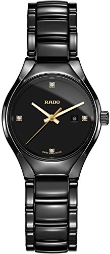 Rado R27059712 True Ceramic Ladies Watch - Black Dial