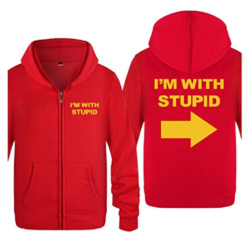 with Coat aicessess Fashion I'm Simple Stupid 12 Full Letters Tops Mens Cardigan Zip 8vwvFHxR