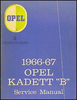 """1966-1967 Opel Kadett """"B"""" Repair Shop Manual Original, used for sale  Delivered anywhere in USA"""