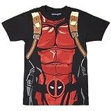 Marvel Deadpool Black 30 Single Men's Costume T-Shirt