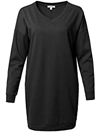Women Casual Over-Sized Loose Fit Tunic Sweatshirts