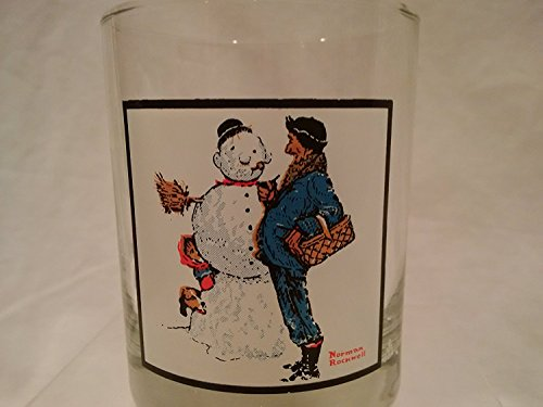 (Norman Rockwell Pepsi Collector Glass Winter Scene Snow Sculpturing)