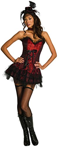 Adult's Small Size 4-6 Sexy Oo La La Red Burlesque Saloon Girl (Cabaret Costumes For Kids)