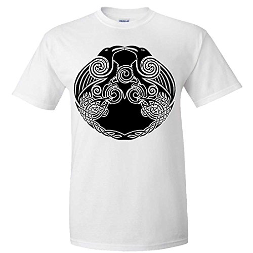 Dolphin Shirt Co Dual Raven Two Tone T-shirt/tee - White X-Large (What Does Peony Mean)