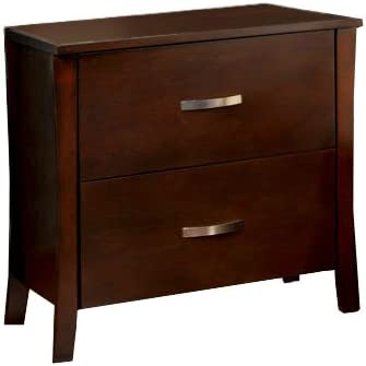 Furniture of America Bex 2-Drawer Nightstand, Brown Cherry Finish