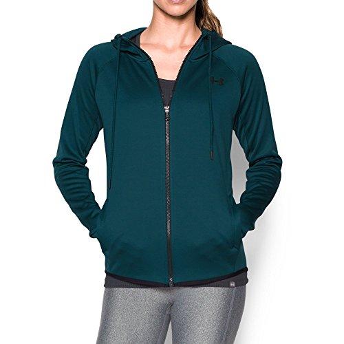 (Under Armour Women's Storm Armour Fleece Lightweight Full Zip Hoodie, Nova Teal (861), X-Small)