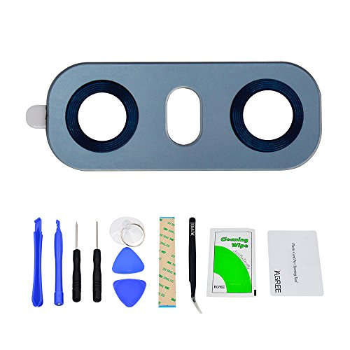 IAGREE Back Rear Camare Glasses For LG G6 G600S H870 H870K H870S H870V Dual H870DS Replacement and Camera Cover + Tool Kits(Blue)