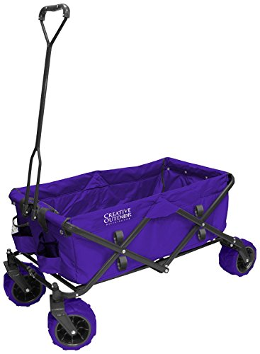 creative-outdoor-distributor-all-terrain-folding-wagon-purple-divider-included-multipurpose-cart-for