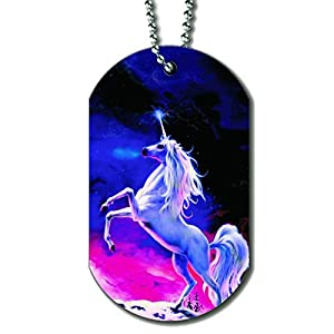 Unicorn Rainbow Moon – Dog Tag Necklace