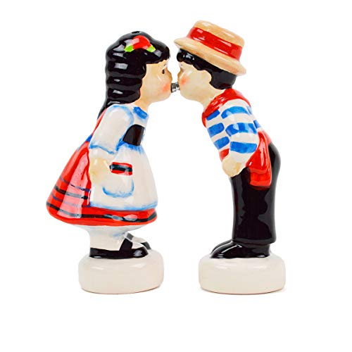 (Essence of Europe Gifts Italian Kissing Couple Salt and Pepper Shakers)