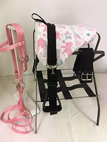 Party Ponies Miniature Horse/SM Pony Bareback Saddle Set – Pink Unicorn