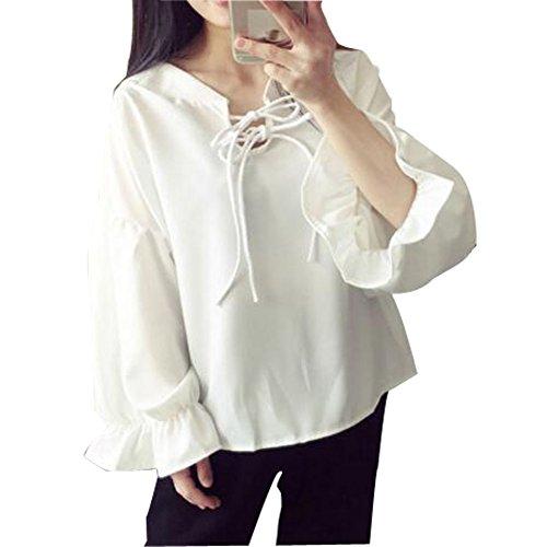 メドレーめったに照らすSHUOSENレディース カジュアル 素晴らしい 純色 パッチポケット 長袖 大きい サイズ 通勤 シャツ