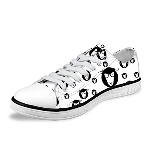 Cow with Low Canvas Breathable Cute Cartoon 3 Print Teens Shoes Micandle Top Printed xYOqzw5E