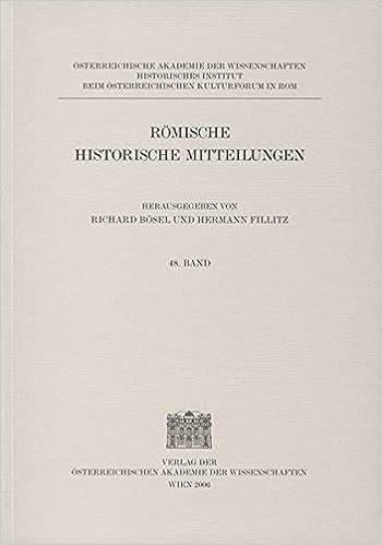 Romische Historische Mitteilungen Band 48/2006 (Rmische Historische Mitteilungen)