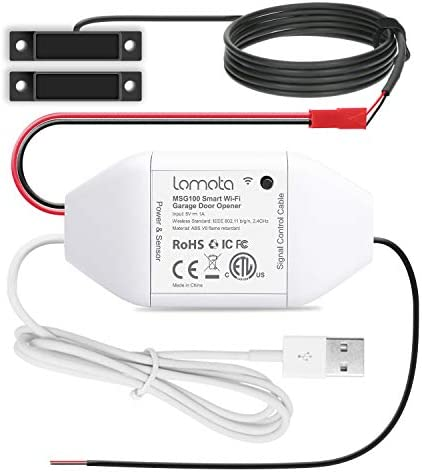 Smart Wi-Fi Garage Door Opener Remote,Lomota Smart Home Devices Work with Alexa and Google Assistant, APP Control, No Hub Needed