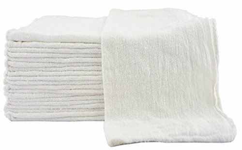 Utopia Towels 100 Pack Shop Towels, White