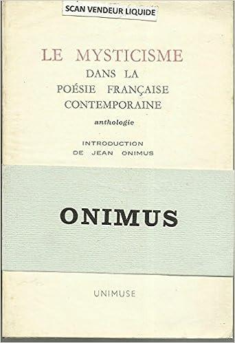 Amazonfr Le Mysticisme Dans La Poesie Française