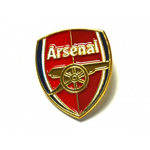 Arsenal FC Official Soccer Crest Pin Badge (One Size) (Red/Gold)