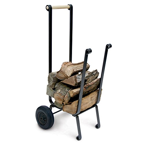 Pilgrim Home and Hearth 18557 Big Wheel Wood Cart For Sale
