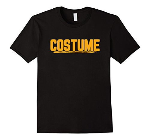 Mens Halloween T-Shirt That Says Costume Easiest Last Min Tee 2XL Black