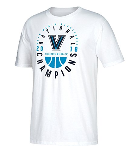 (Villanova Wildcats White 2018 NCAA Men's Basketball National Champions T-Shirt Medium)