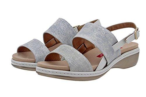cuir confort semelle Piesanto 8824 Hielo femme amples amovible en Chaussure sandale confortables Cqw5UtZ