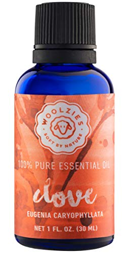 Woolzies best quality 100% pure clove essential oil, therapeutic grade, 1fl oz