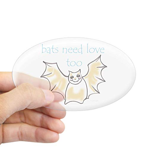 CafePress Bats Need Love Too! Oval Sticker Oval Bumper Sticker, Euro Oval Car Decal]()