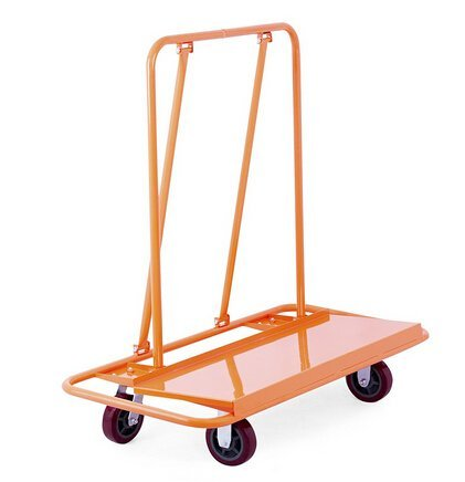 OrangeA Drywall Cart Dolly 3000LB Heavy Duty Sheetrock Panel Cart Professional Drywall Cart with 2 Fixed and 2 Swivel Heavy Duty Casters Plywood Dolly Panel Trolley Truck (3000Lbs Capacity)