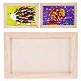 DIY Photo Frame, Coxeer DIY Picture Frame Unfinished Ready to Paint Wood Photo Frame for Wall Decor