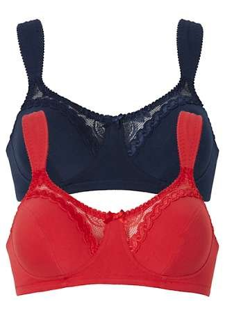 898658f5b3b15 Pack of 2 Non-Wired Bras  Amazon.co.uk  Clothing