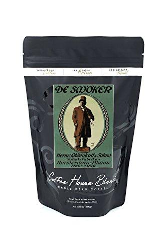 De Smoker Vintage Poster (artist: Kunze) Germany c. 1910 (8oz Whole Bean Small Batch Artisan Coffee - Bold & Strong Medium Dark Roast w/ Artwork) - Vintage Smokers