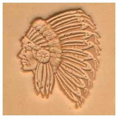 Springfield Leather Company Indian Chief 3D Leather Stamp