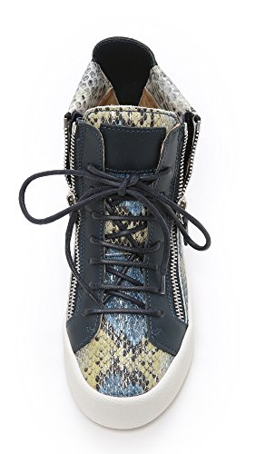 Giuseppe Zanotti Donna Sneakers Serpente Stampate Blu Multi