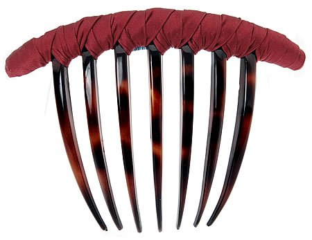 - L. Erickson USA French Twist Comb - Silk Charmeuse Heart Throb