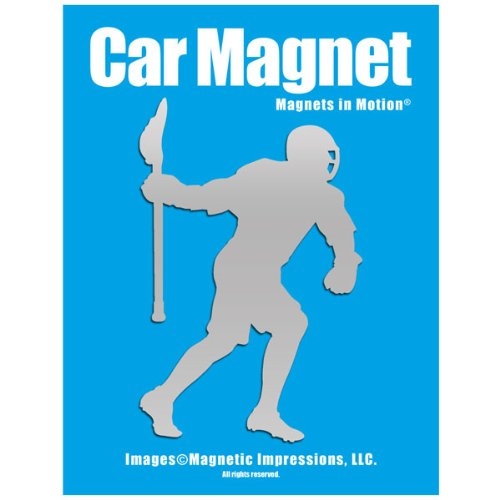 Lacrosse Attack Mid Player Car Magnet Chrome