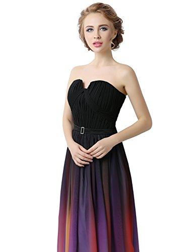 Sarahbridal Damen Lang A-Line Abendkleider Ballkleid Mehrfarbig Chiffon Partykleider SSD315 Grey-231 77ZiVTMx3Y